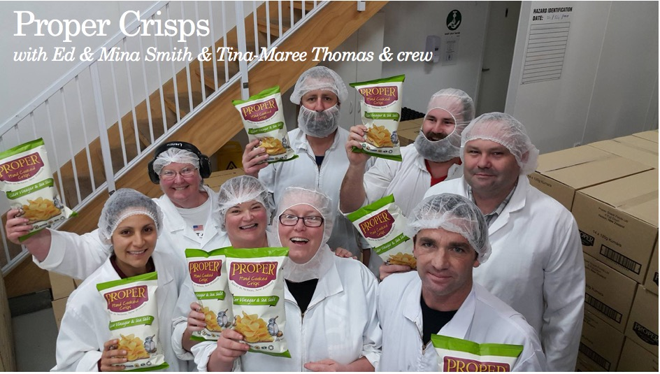 Proper Crisps with Ed & Mina Smith, Tina-Maree Thomas & crew